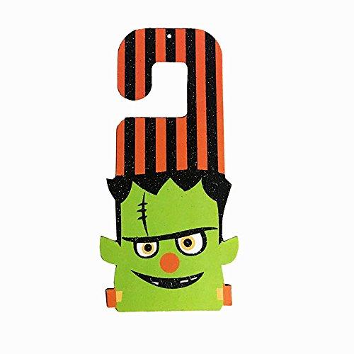 PENGYGY Halloween Props Paper Hanging Tag Accessories Door Window Party Decoration Bedroom Cartoons (C)]()