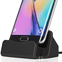ONX3 (Black) Samsung Galaxy S5 / S5 Neo / S5 (octa-core) / S5 Duos / S5 Plus / S5 LTE-A G901F / S5 LTE-A G906S / S5 CDMA Desktop Charger Micro USB Base Stand Data Sync Charging Docking Station