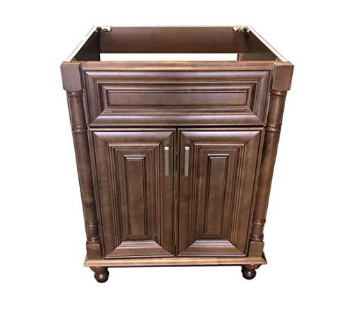 Maple Walnut solid wood Single Bathroom Vanity Base Cabinet 24