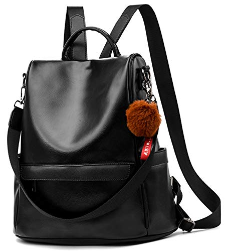Women Backpack Purse PU Leather Anti-Theft Casual Satchel Shoulder Bag for Ladies - Casual Backpack Womens