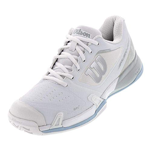 WILSON Women's Rush Pro 2.5 All Court Tennis Shoe Women's Tennis Shoe, Wh/Pearl Blue