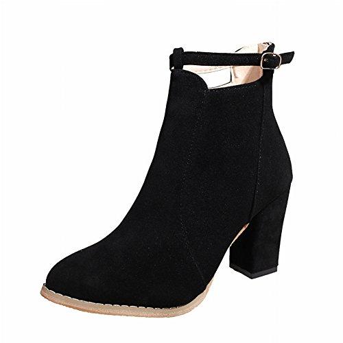 polieren Hohen Damen Single Stiefel EUR35 Stiefel mit Peeling England mit Absätzen Schuhe Martin Schuhen Wies Match All Boots Dicken Stiefel Nackten SHFwwXq