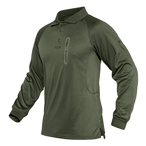 CRYSULLY Men's Short Sleeve Shirt Cargo Tactical Military Pullover Outdoor T-Shirt Army Combat Polo Shirts