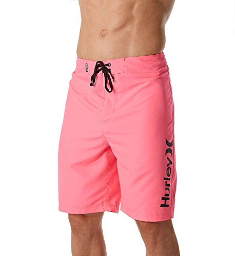 Hurley Men's One & Only 2.0 Boardshorts 21'' Neon Pink 34 by Hurley