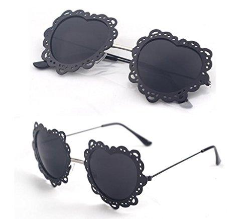 sol 11 en Coreana Moda corazón Redondas Gafas Gafas Forma X131 de Mujer de Gafas de 3 sol Personalizadas Color de O7UqXUfW