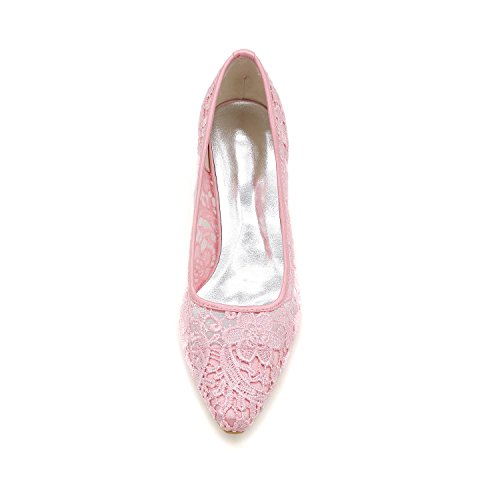 L@YC Women'S Wedding Shoes With Round Head / Flat Shoes / Evening Party & Black / White / Pink Pink g7EOzLuUb