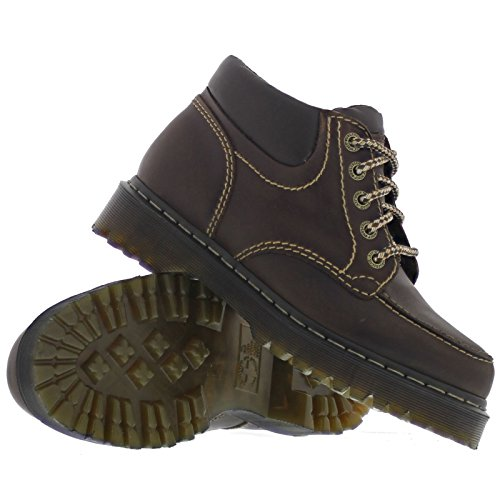 Dr.Martens Mens Pilloy Leather Boots Dark Brown