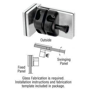 316 Brushed Stainless 90 Degree Glass-to-Glass Gate Latch