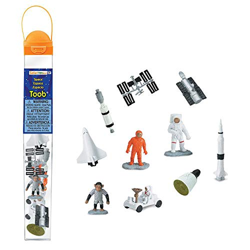 (Safari Ltd Space TOOB With 10 Out Of-This-World Toy Figurines, Including 2 Astronauts, 1 Space Chimp, 6 Space Craft, And More! - For Ages 3 And)