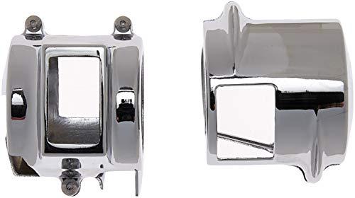 Krator CSH005 Handlebar 2002-2007 Honda VTX 1800 Models C/R/S/F/N Custom Chrome Switch Housing Cover Kit Chrome Switch Housing Kit