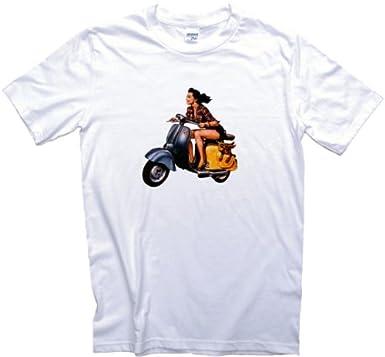 Diseño de Chica con Exceso de Velocidad Patinete T-Camiseta ...