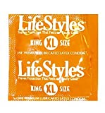 LifeStyles Large (King Size XL) Condoms 50 Pack