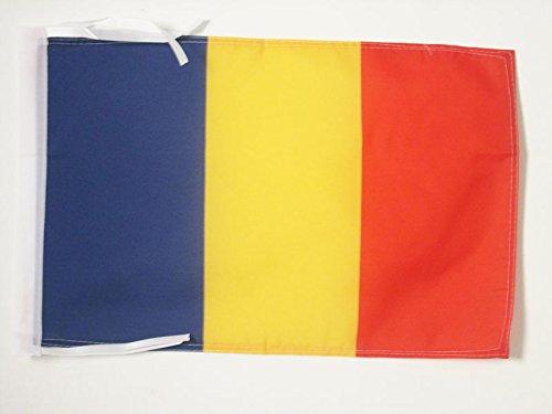 ROMANIA FLAG 18'' x 12'' cords - ROMANIAN SMALL FLAGS 30 x 45cm - BANNER 18x12 in - AZ FLAG