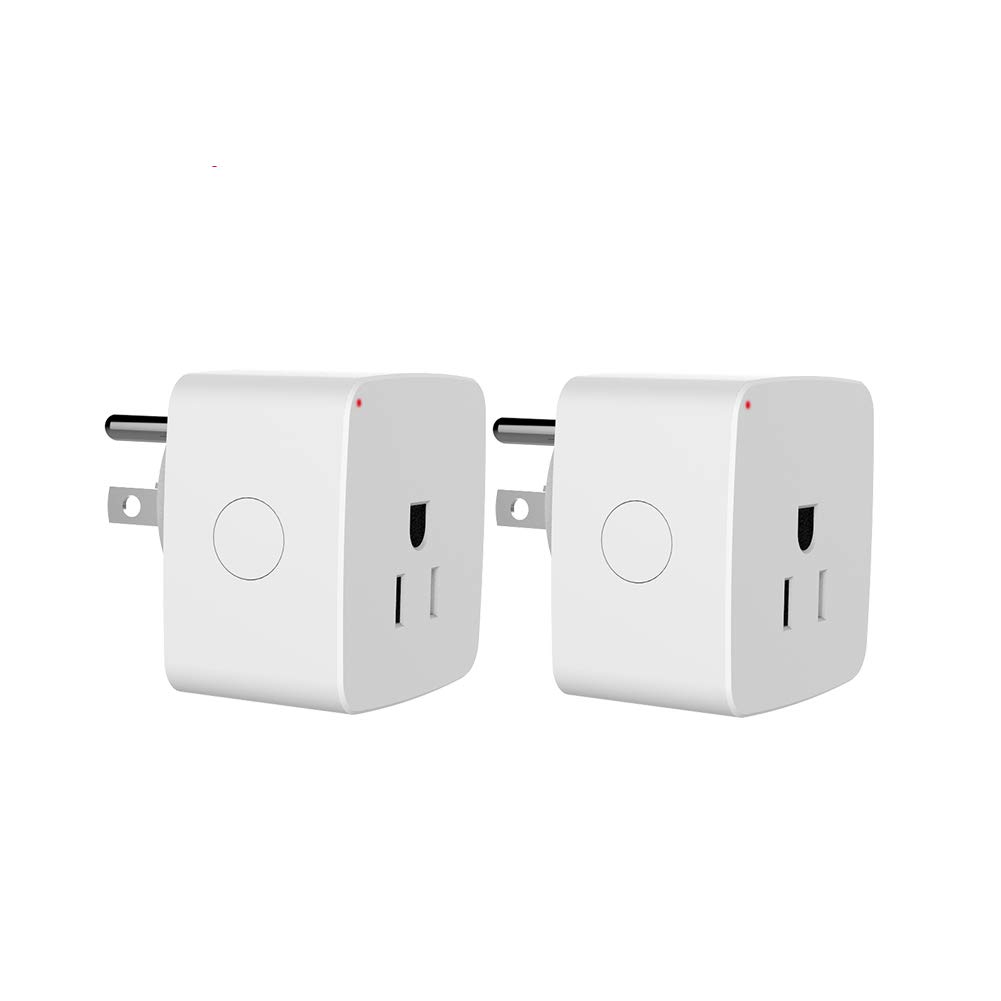 WiFi Mini Smart Plug, Eshine Timer Outlet Switches Wireless Socket Compatible with Alexa, Google Home, APP Remote Control No Hub Required (2 Pack)