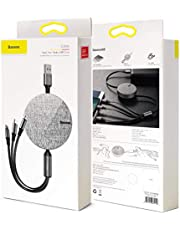 Retractable USB Cable, Baseus iP USB Sync and Charge,3ft/0.9M Retractable Quick Charging Data High Speed Adapter Cable