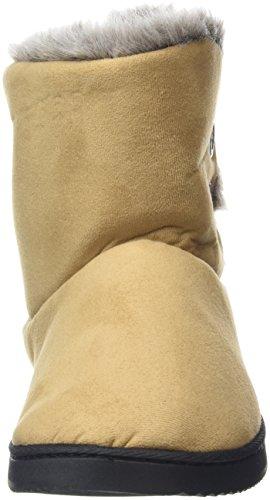 Desert Hi Boot Button WoMen Microsuede Top Beige Dearfoams Slippers Two A4vzFxq4