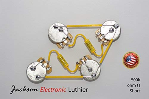 Les PauL Wiring Harness Kit Custom Vintage Wiring - Short or Long - Mallory 150 Mustard .022 uF Caps