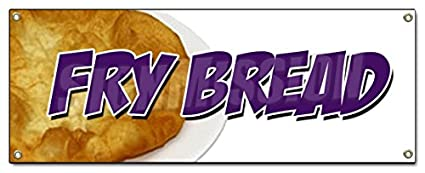 frybread Banner cartel fresco caliente panadería indio Fry ...