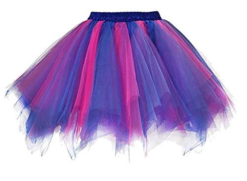 Coolred-Women Rockabilly Dress Mesh Baggy High-Waisted Halloween Short Skirt 9 L ()
