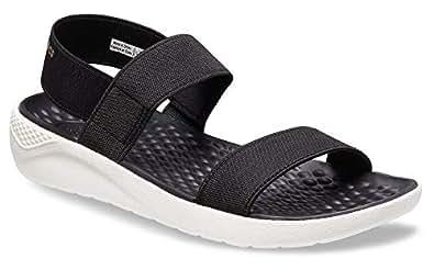 Crocs Women's LiteRide Sandal, Black/White, W5