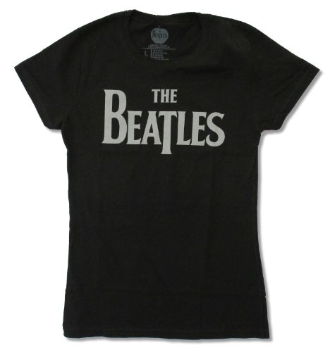 (Apple Corps Juniors The Beatles Classic Logo Black Baby Doll T-Shirt (X-Small))