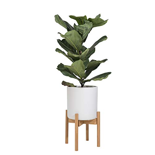 Sona Home Adjustable Mid Century Plant Stand | Available in 3 Sizes, 3 Colors | Stylish & Versatile Modern Plant Stand for Indoor & Outdoor Use | Planter Stand Only      ()