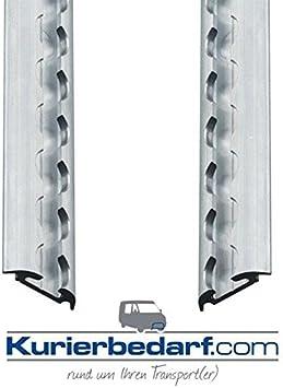 Kurierbedarf Com 2x Airlineschiene Halbrundprofil Light 1 Meter Zurrschienen Zur Ladungssicherung Auto