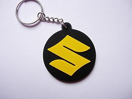 Llavero Suzuki de caucho redondo y amarillo. Perfecto para ...