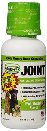 Formula Pot Roast Flavor (Liquid-Vet Joint Formula – Fast Acting Glucosamine for Joint Aid in Canines – Pot Roast Flavor – Trial Size, Buy 1 Get 1 Free – 8 Fluid Ounces)
