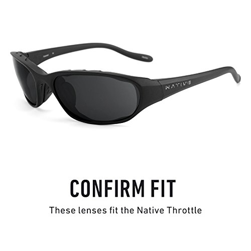 Rogue Verde Throttle Native Polarizados Revant de Lentes Mirrorshield — Opciones repuesto para Elite múltiples gfxURPW71