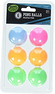 Amscan 210432 Neon Ping Pong Ball, One Size, Multicolor