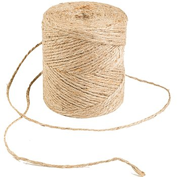 2 Ply Natural (Jute Cord, 2 Ply, Natural,133 Yards, 20 Pound Strength, (Pack of 1) by Darice)