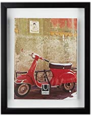 """Umbra Document Frame - 11x14 Picture Frame, Floating Frame for Displaying 8-1/2x11"""" or 11x14"""" Document, Diploma, Certificate, Photo or Artwork, Black, 11 x 14"""""""