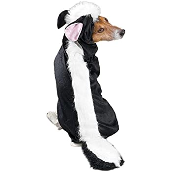 "Casual Canine Lil' Stinker Dog Costume, Medium (fits lengths up to 16""), Black/White"