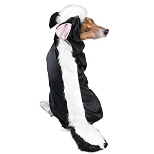 """Casual Canine Lil' Stinker Dog Costume, Medium (fits lengths up to 16""""), Black/White"""