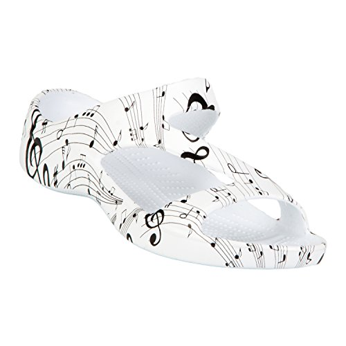 DAWGS Women's Z Sandal Collection, Musical Notes, 6 B(M) US