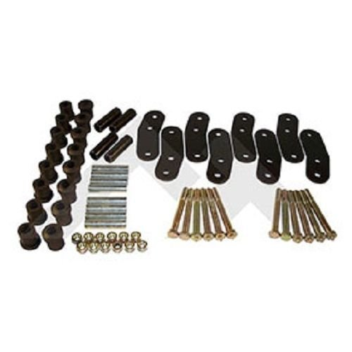 (JEEP WRANGLER YJ 87-95 HEAVY DUTY 3/4 INCH LIFT GREASABLE SPRING SHACKLE SET 4)