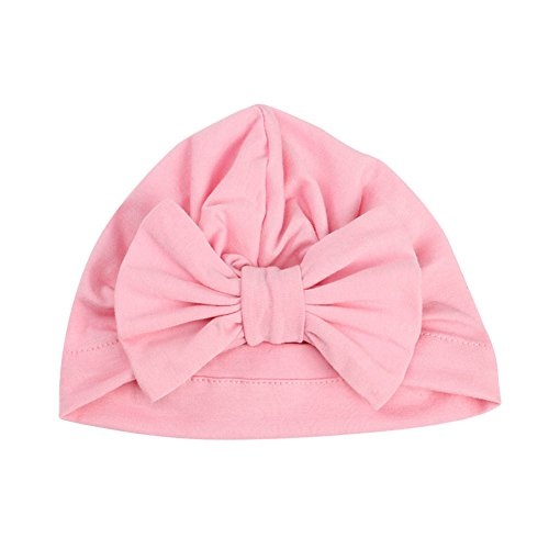 BAOBAO Baby Boy Girl Newborn Infant Cotton Knot Turban Indian Cap Bowknot Beanie Hat