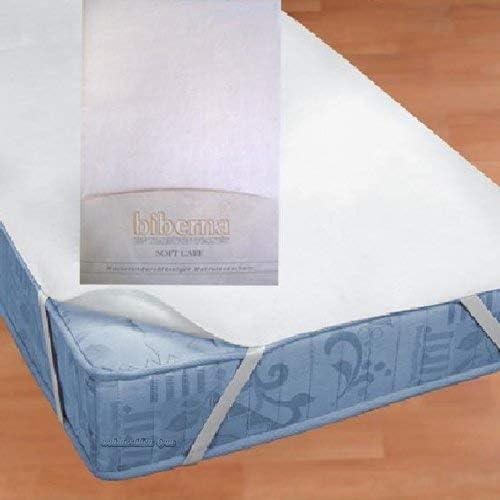 Colore Bianco Biberna 809600-001-142 Coprimaterasso Impermeabile a mollettoni con SilverCare 90x200 cm