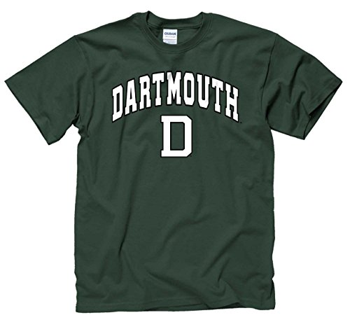 Campus Colors Dartmouth Big Green Arch & Logo Gameday T-Shirt - Green, X-Large - Mens College Big Logo Tee