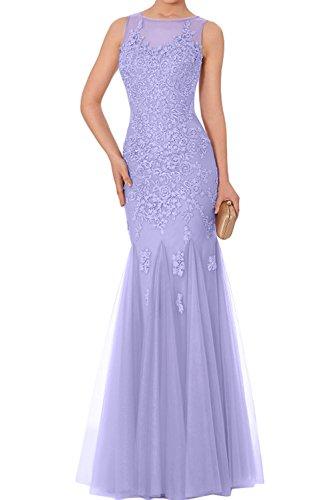 Meerjungfrau Ballkleider Spitze Abendkleider 2017 Tuell Romantisch Ivydressing Lang Promkleider Lavender Neu wTqztpO