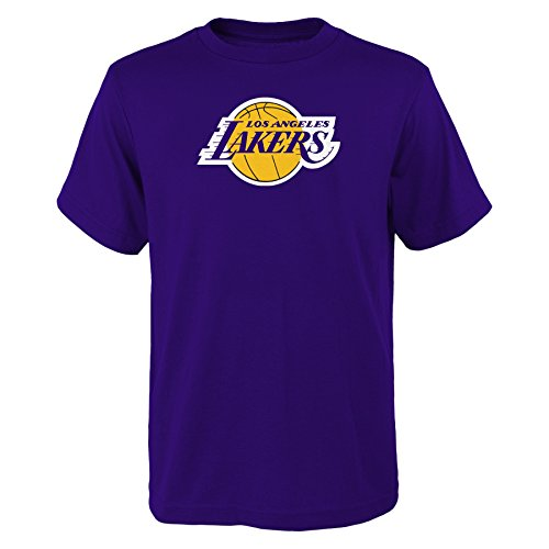 YOUTH Los Angeles Lakers NBA primary logo T Shirt Purple L