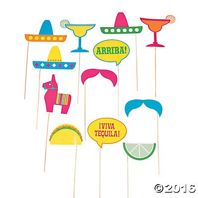 UPC 889070261104, Fiesta Party Photo Stick Props - 12 pc
