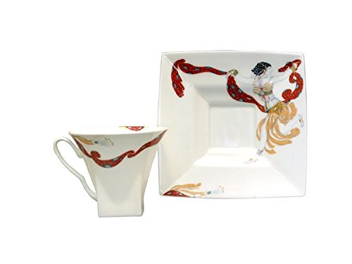 Lomonosov Porcelain Bone China Cup and Saucer Oriental Dance 8.45 oz/250 ml by Lomonosov Russia