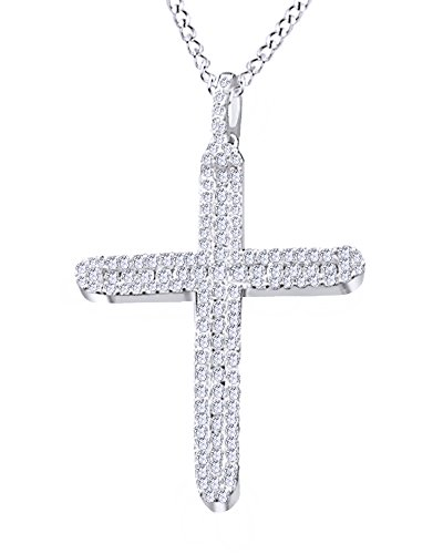 1.41 Carat Natural Diamond hip Hop Jewelry Cross Pendant In 14K Solid Gold by Wishrocks