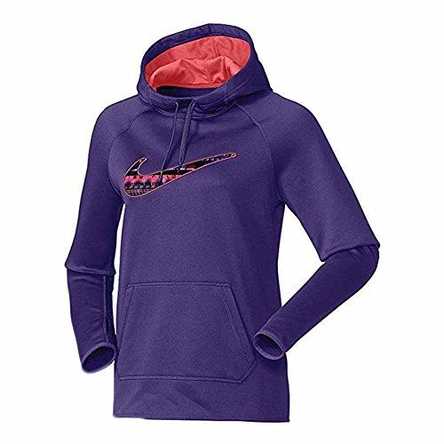 (Nike Women's All Time Therma 8bit Swoosh Training Hoodie)