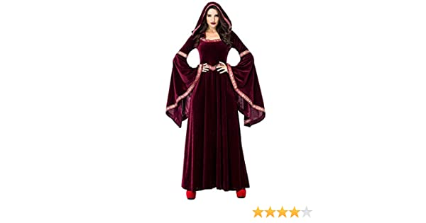 XINSH Disfraz Halloween Vampiresa Reina Cosplay Adulto Bruja para ...