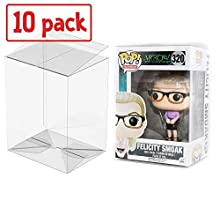 """PLAYOLY Pop Protector Case for Funko - 4"""" Inch Pop! Vinyl Figures, Strong Pop Protectors, Crystal Clear, Heavy Duty Acid Free w/ Protective Film Lot of 10"""