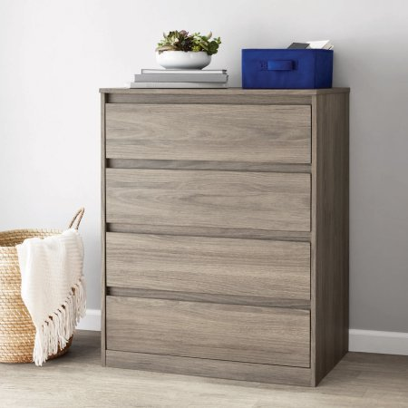 Mainstays Rustic Oak Finish Westlake 4-Drawer Dresser, Dimension: 31.1875 x 19.125 x 38.875 Inches by Mainstays
