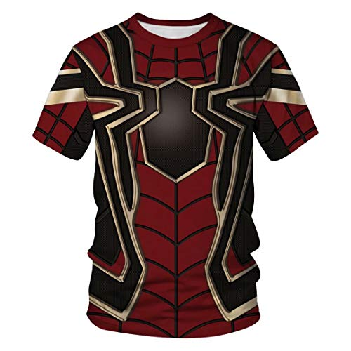 Tsyllyp Women Men Super Hero T Shirt Iron Spider 3D Print Tee Shirts ()
